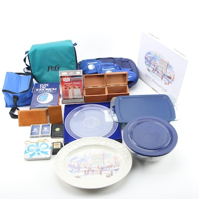 """Duncan Hines """"Angel Food"""" Trophy with Business Desk Accessories and Serveware"""