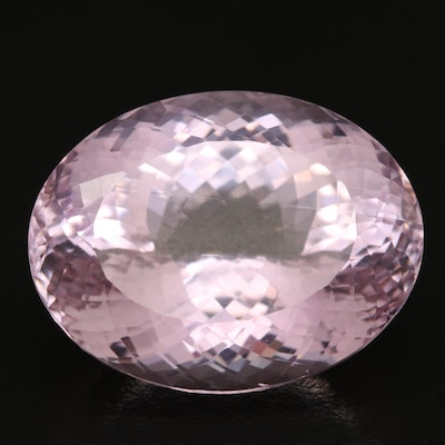 Loose 62.25 CT Oval Faceted Kunzite