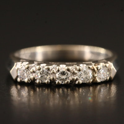 18K Diamond Five Stone Ring