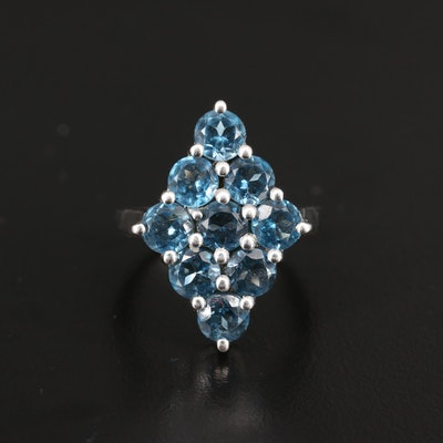 Sterling Silver London Blue Topaz Dinner Ring