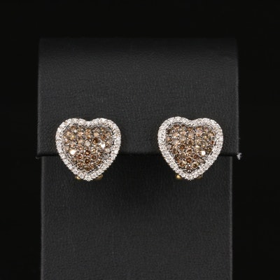 14K 2.01 CTW Diamond Heart Earrings