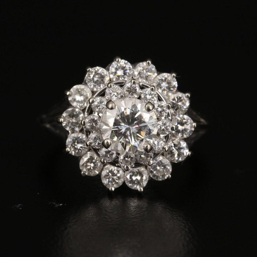 18K 2.45 CTW Diamond Tiered Ring
