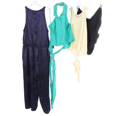 Sonia Rykiel Purple Silk Sleeveless Jumpsuit, DKNY and Other Clothing Separates