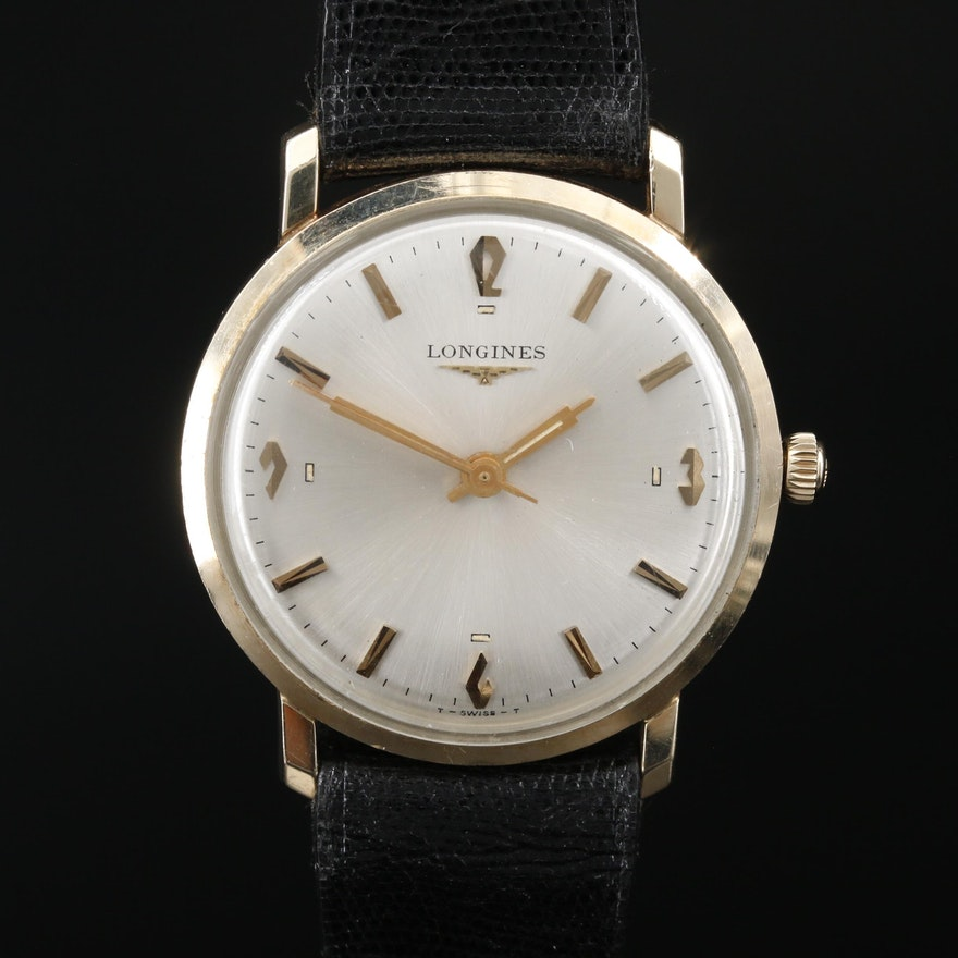 1966 Longines Parliment All - Proof 10K Gold Filled Stem Wind Wristwatch