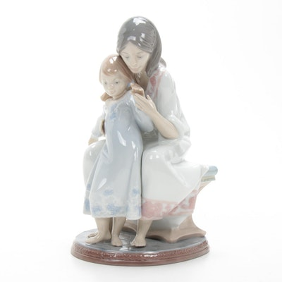 "Lladró ""Tenderness"" Porcelain Figurine Designed by Juan Huerta"