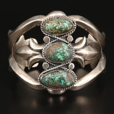 Southwestern Turquoise Sand Cast Cuff