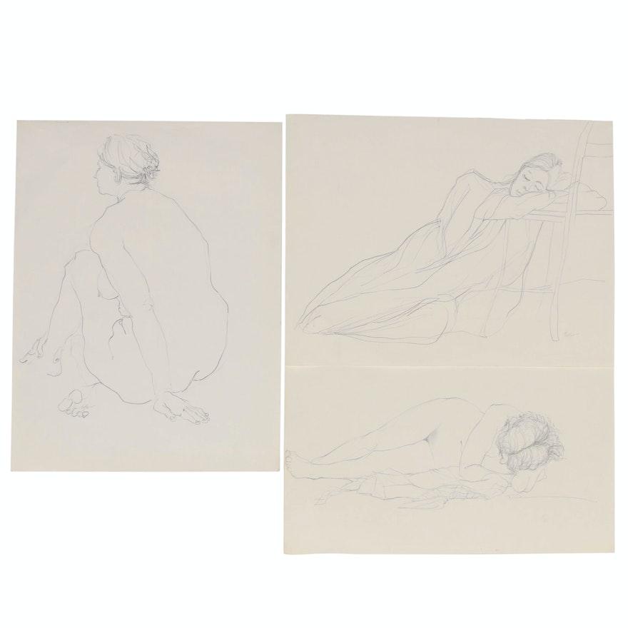 John Tuska Figure Drawings of Female Nudes