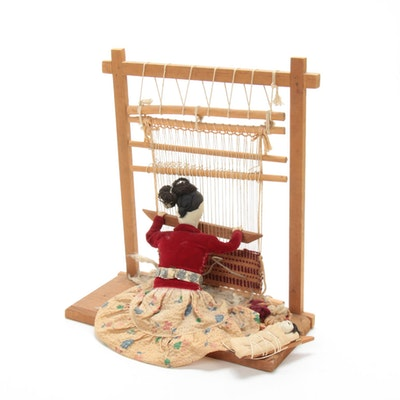 Mixed Media Assemblage of Navajo Style Weaving Loom, Late 20th Century