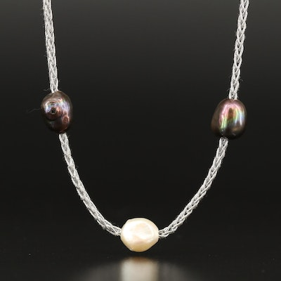 Semi-Baroque Pearl Continuous Necklace
