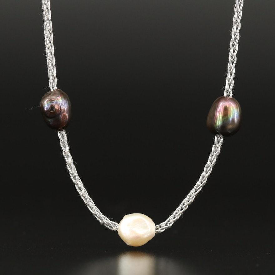 Semi-Baroque Pearl Continuous Necklace