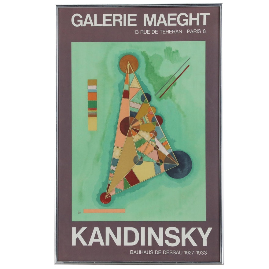 Galerie Maught Exhibition Poster After Wassily Kandinsky, 1965
