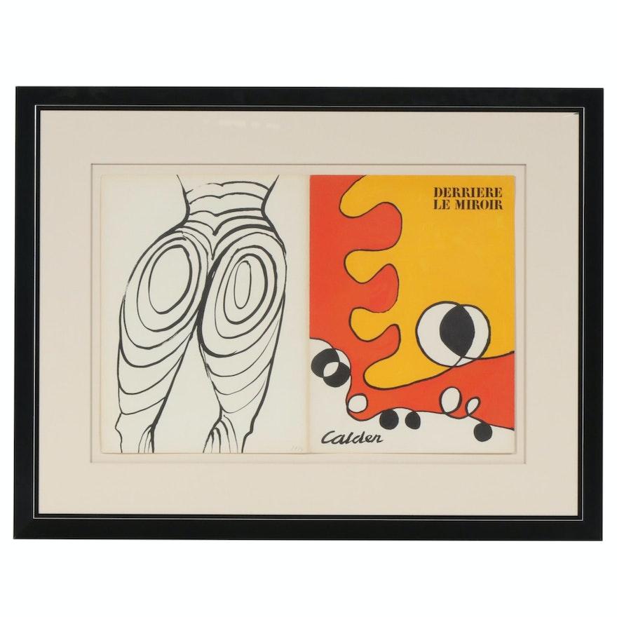 """Alexander Calder Color Lithograph Cover for """"Derrière le Miroir"""", 1968"""
