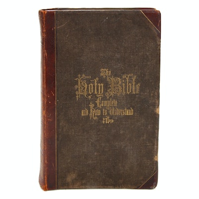 """""""New and Complete Analysis of the Holy Bible"""" Edited by Rev. R. Hitchcock, 1870"""