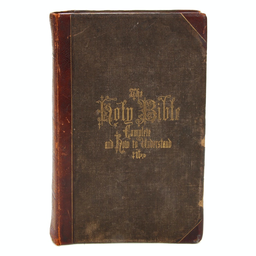 """New and Complete Analysis of the Holy Bible"" Edited by Rev. R. Hitchcock, 1870"