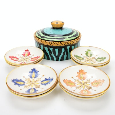Williams & Sonoma Bowls with Kay Bynum and Richard Frideaux Lidded Dish