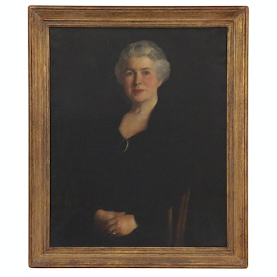 John Ellsworth Weis Portrait Oil Painting of Mrs. Harry Ward Randolph