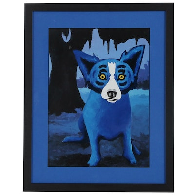 "Offset Lithograph after George Rodrigue of ""Blue Dog"""