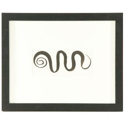 """Alexander Calder Half-Page Lithograph for """"Derrière le Miroir"""", 1966"""