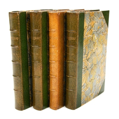 "Complete ""The Confessions of Jean Jacques Rousseau"" Four-Volume Set, 1897"