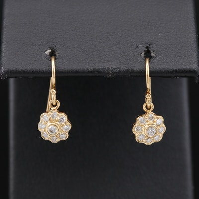 18K Diamond Dangle Earrings