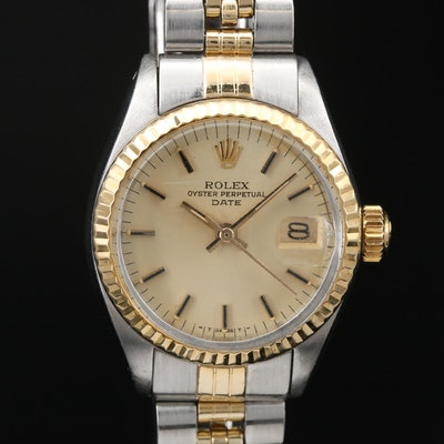 "1977 Rolex ""Datejust"" 14K and Stainless Steel Wristwatch"