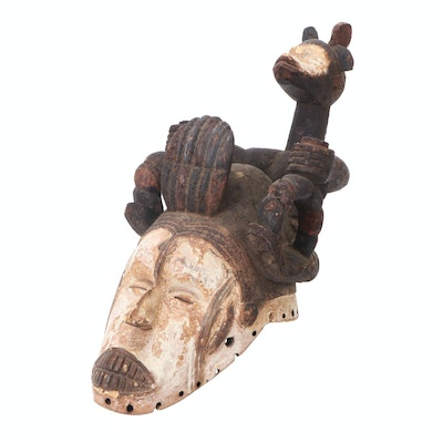 Igbo Ceremonial Mask with Guardian Spirit Figure, Nigeria