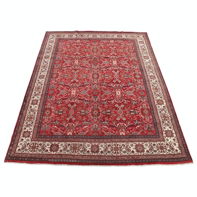 10'2 x 13'5 Hand-Knotted Persian Mahal Rug, 1970s