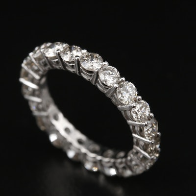 Platinum 2.52 CTW Diamond Eternity Band