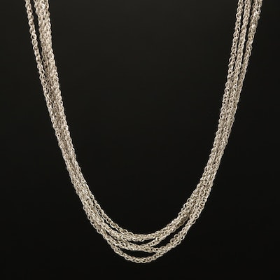 14K Multi Strand Chain Necklace