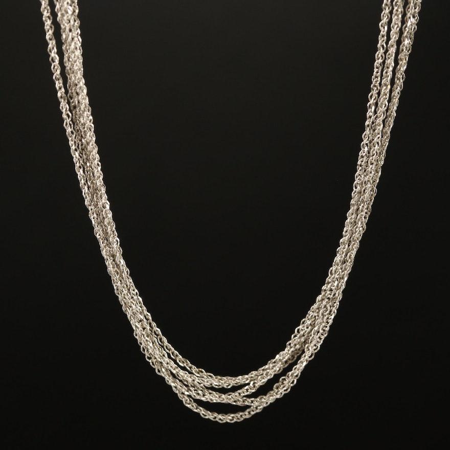 14K Multi Strand Chain Necklace