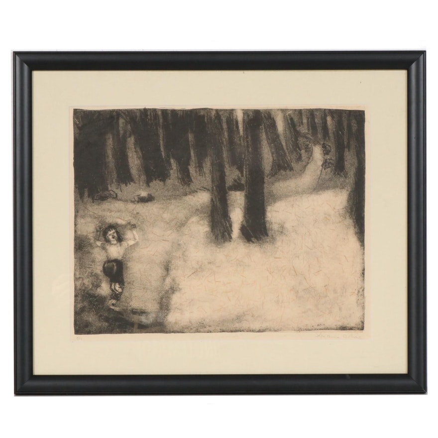 """""""A Child's Relativity"""" Lithograph, Mid to Late 20th Century"""