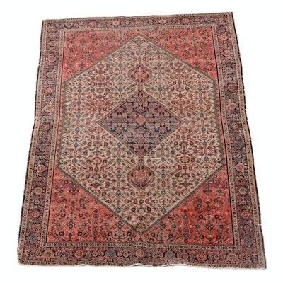 4'2 x 6'2 Hand-Knotted Persian Bijar Wool Rug