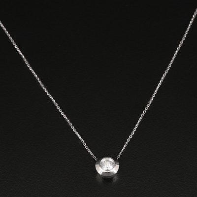 14K 0.63 CT Bezel Set Diamond Necklace