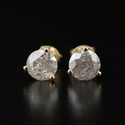 14K 1.90 CTW Diamond Stud Earrings