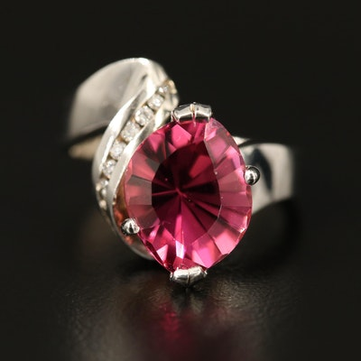 14K Tourmaline Ring with Diamond Accents