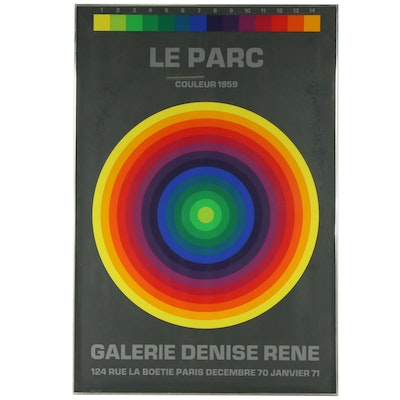 "Serigraph Exhibition Poster for Julio Le Parc ""Couleur 1959"""