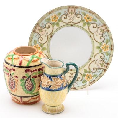 Tashiro Shoten Vase and Other Japanese Tableware, Early to Mid 20th Century