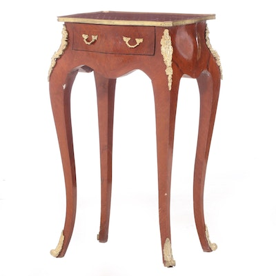 Louis XV Style Gilt Metal-Mounted Kingwood and Parquetry Side Table