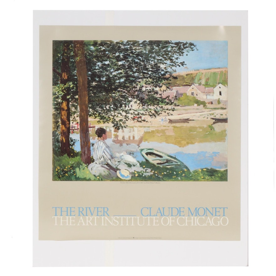 """Offset Lithograph after Claude Monet """"The River"""" for Art Institute of Chicago"""