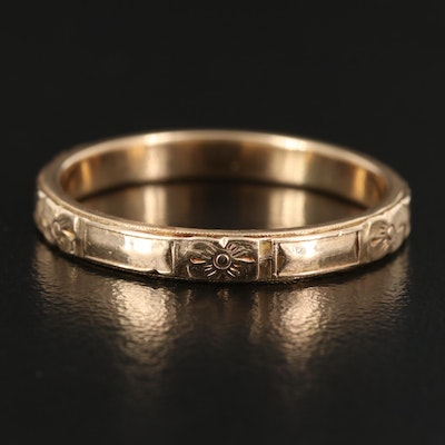 1930s 10K Engraved Band