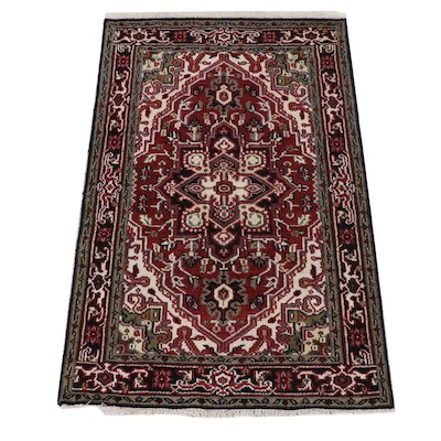 3'11 x 6'3 Hand-Knotted Indo-Persian Heriz Rug