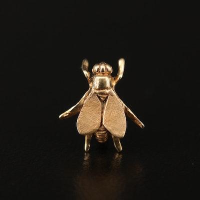 14K Fly Pin