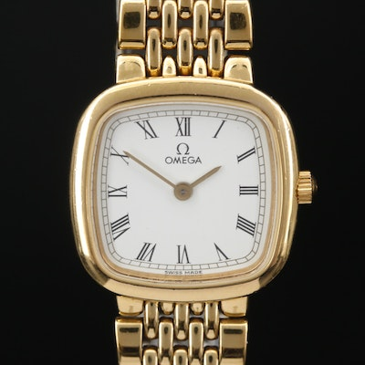 "1990 Omega ""De Ville Ile de France"" Gold Plated Quartz Wristwatch"