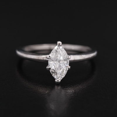 18K 0.69 CT Diamond Solitaire Ring
