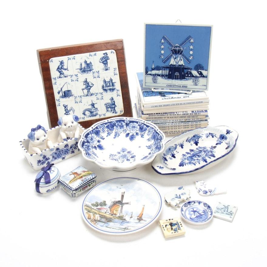 Gerrit Neven for Royal Delft and Delft Blue Ceramic and Porcelain