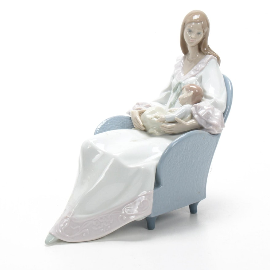 "Lladró ""My Little Treasure"" Porcelain Figurine Designed by Francisco Polope"