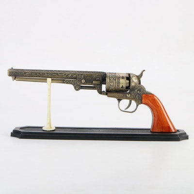 "Decorative Replica Colt ""The US .36"" Model Revolver with Display Stand"