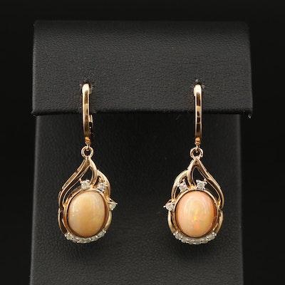 Sterling Silver Diamond Dangle Earrings