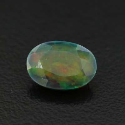 Loose 1.74 CT Oval Faceted Opal