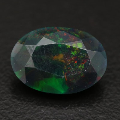 Loose 2.61 CT Oval Faceted Opal